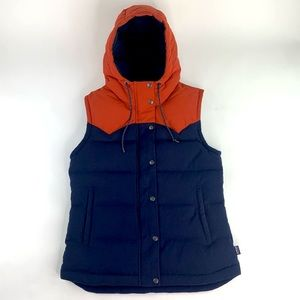 Patagonia Bivy Hooded Duckdown Puffer Vest Sz S